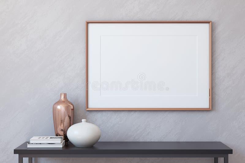 Modello della pagina 3d rendono illustrazione di stock