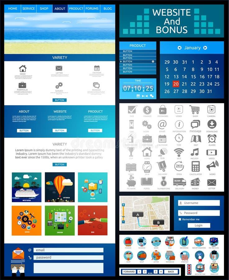Modello della pagina del sito Web Web design illustrazione vettoriale