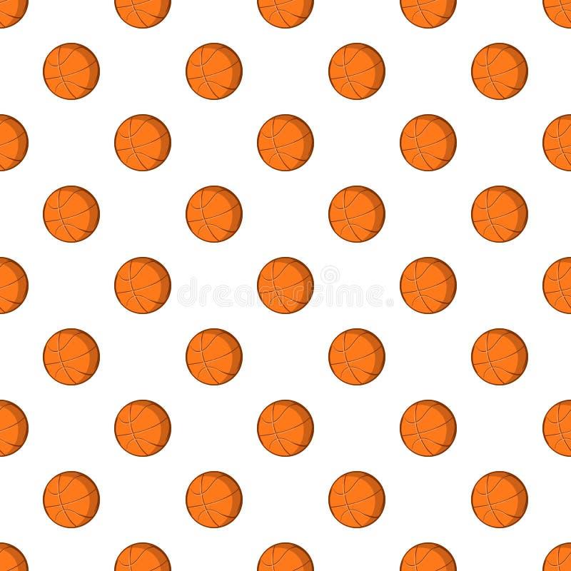 Modello della palla di pallacanestro, stile del fumetto illustrazione vettoriale