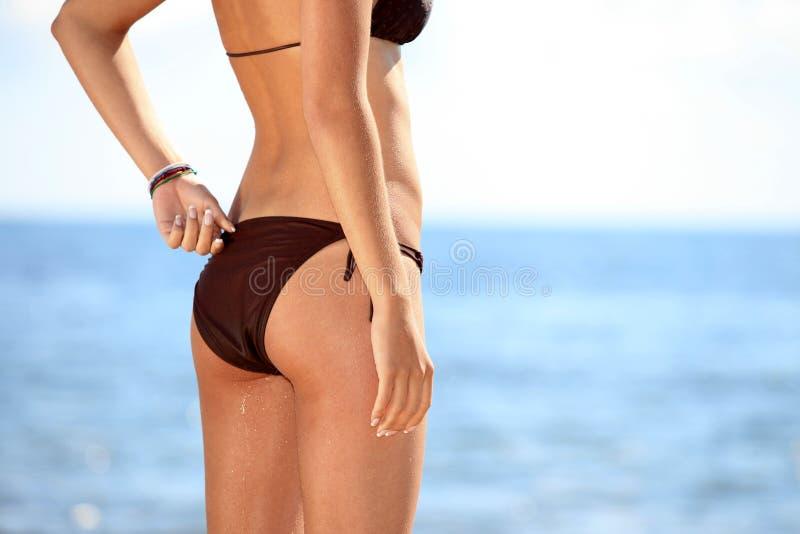 Modello della parte inferiore di bikini immagini stock