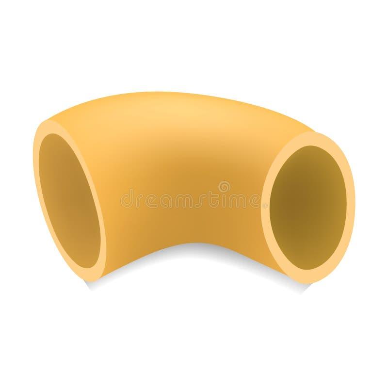 Modello della pasta del rigate della pipetta, stile realistico royalty illustrazione gratis