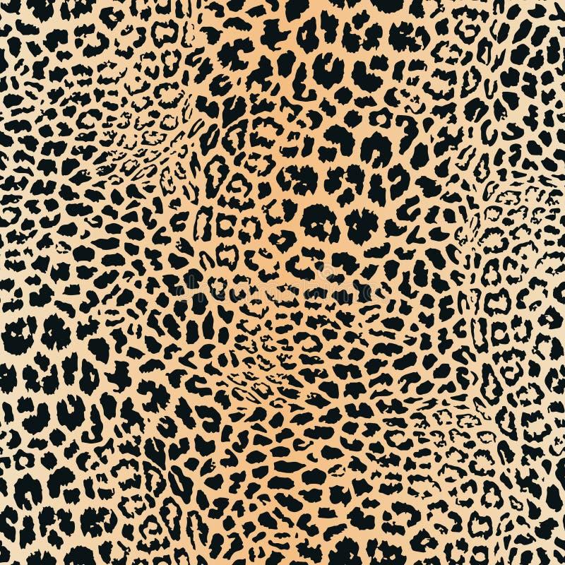 Modello della pelle del leopardo Struttura senza giunte di vettore Stampa animale, giaguaro, ghepardo illustrazione vettoriale