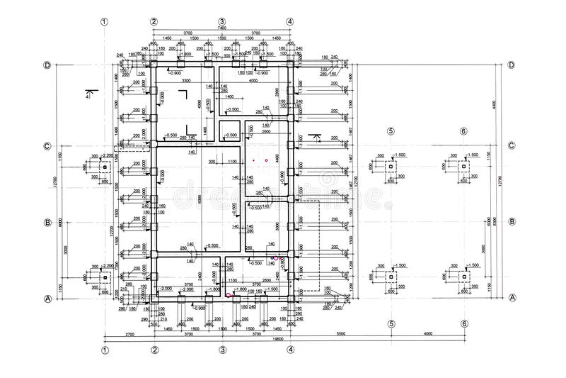 Download Modello della pianta illustrazione di stock. Illustrazione di carta - 55365376