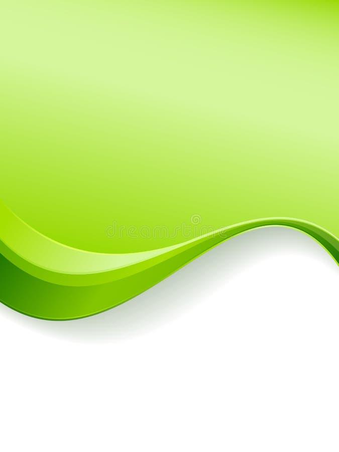 Modello della priorità bassa dell'onda verde royalty illustrazione gratis