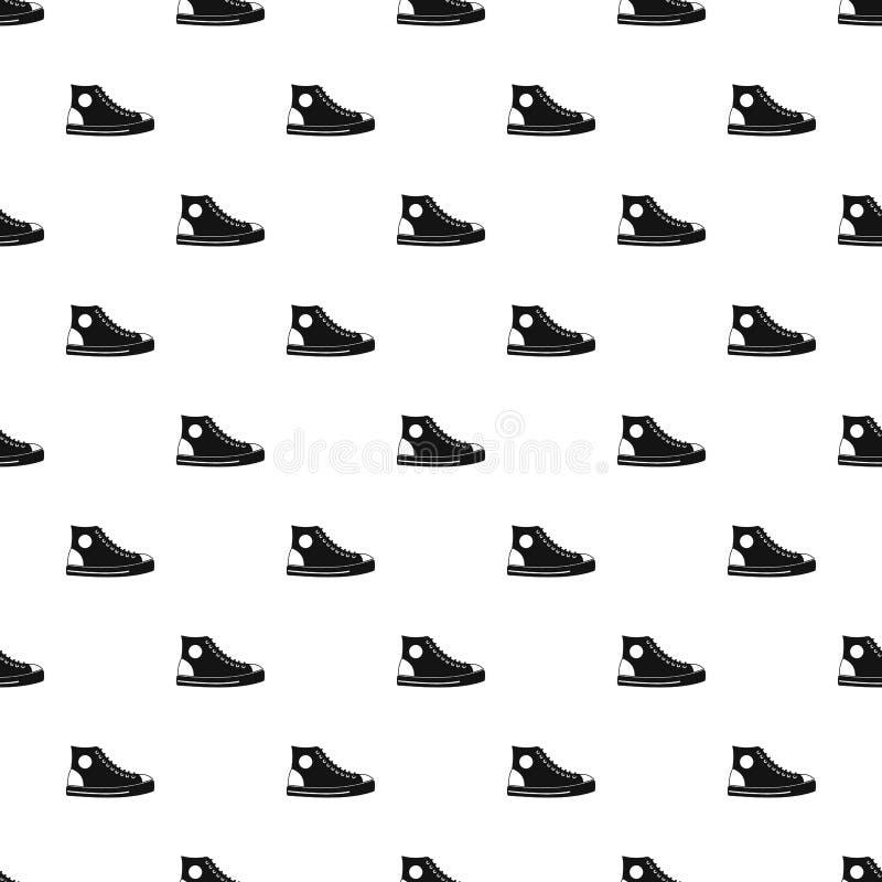 Modello della scarpa degli uomini senza cuciture royalty illustrazione gratis