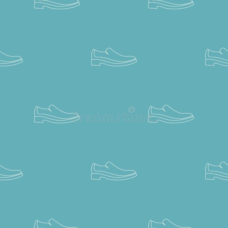 Modello della scarpa degli uomini senza cuciture illustrazione di stock