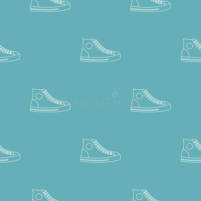 Modello della scarpa degli uomini senza cuciture illustrazione vettoriale