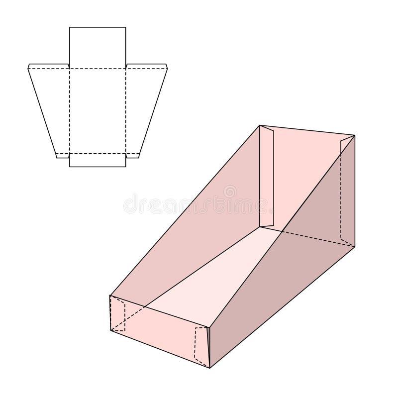 Modello della scatola del supporto illustrazione vettoriale