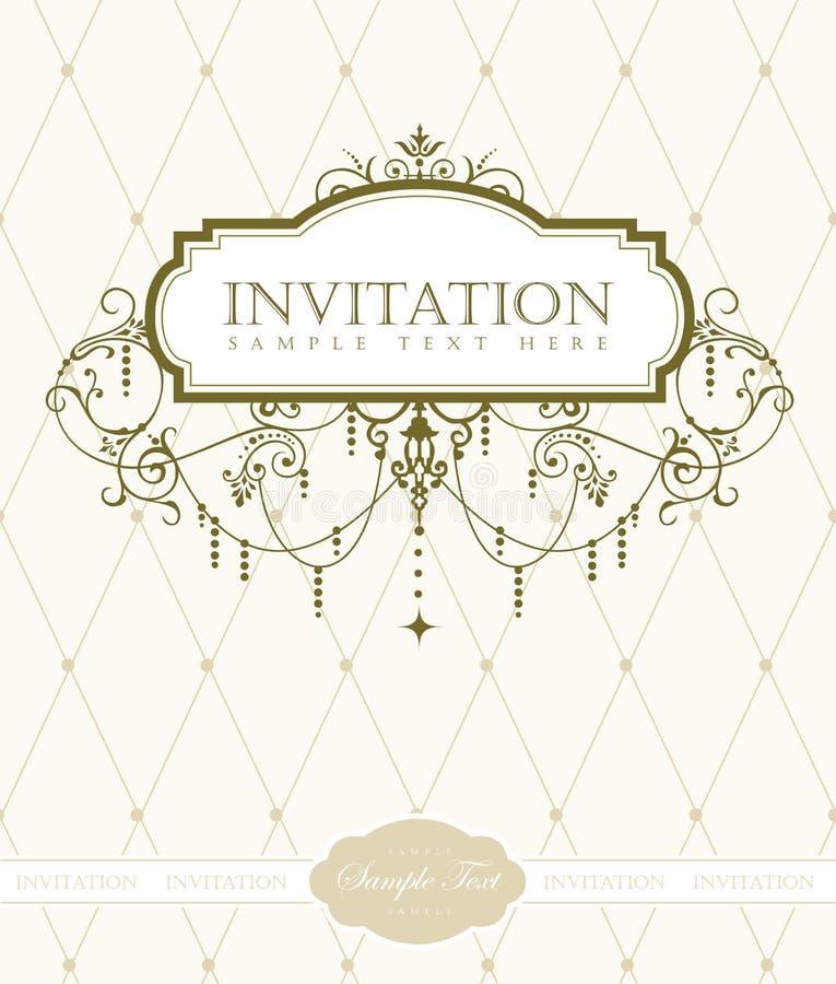 Modello della scheda dell'invito illustrazione di stock