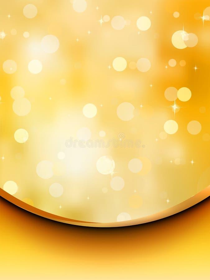 Modello della scheda di festa di scintillio. ENV 8 illustrazione di stock