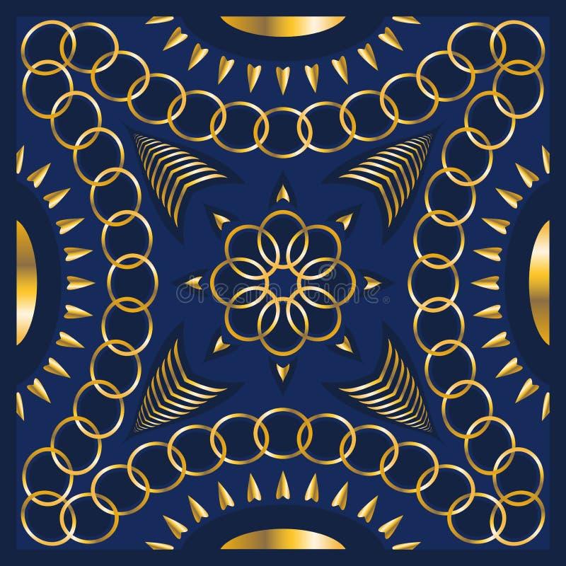 Modello della sciarpa illustrazione vettoriale