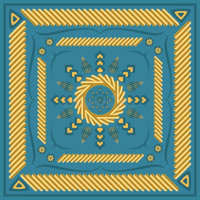 Modello della sciarpa royalty illustrazione gratis