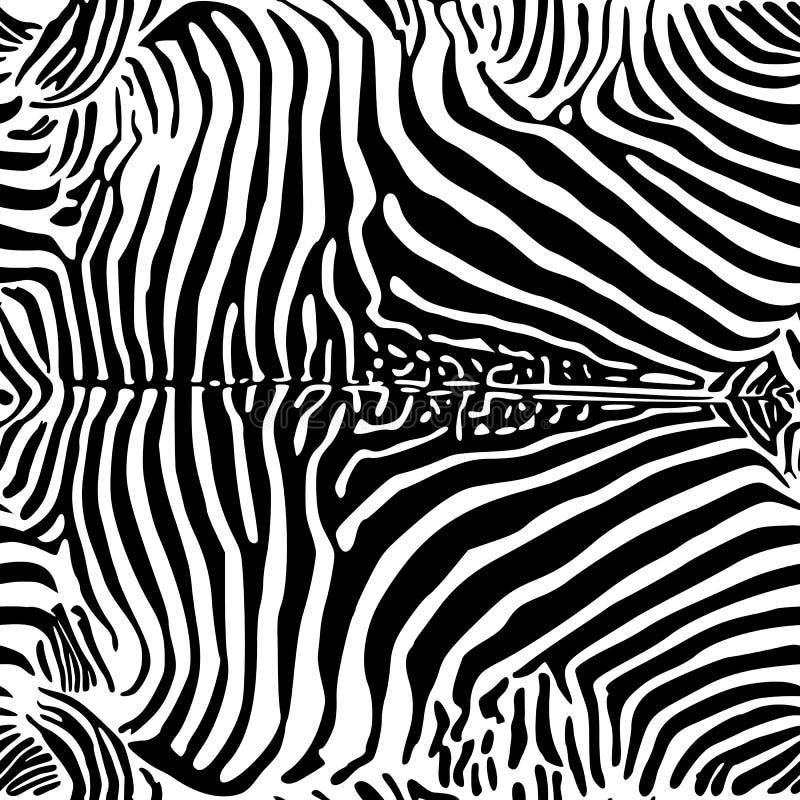 Modello della stampa della zebra illustrazione vettoriale