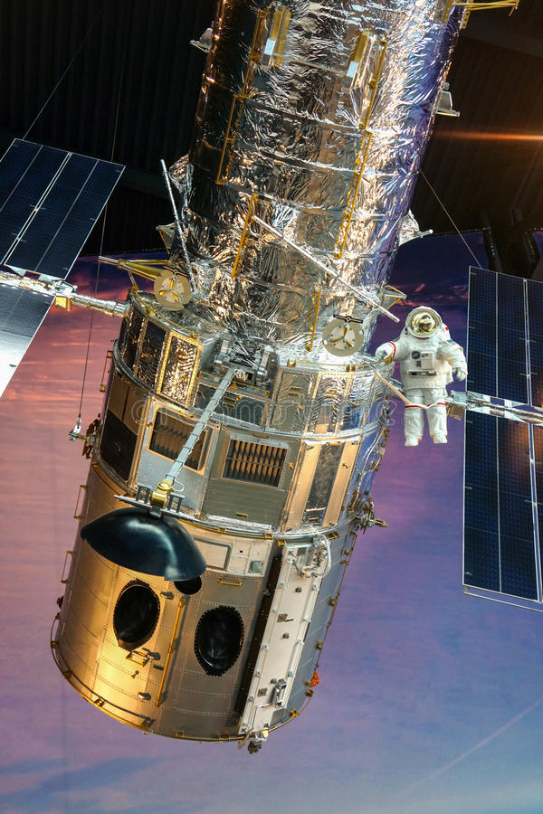 Modello della stazione spaziale al museo di Seattle del volo fotografia stock