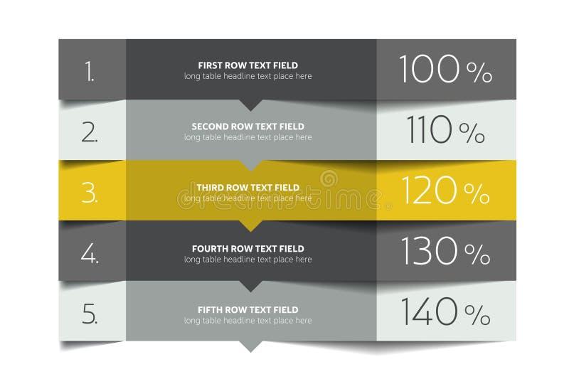 Modello della Tabella Tavola di programma Tabella 3d Tavola di affari Tavola dell'opuscolo, programma illustrazione vettoriale