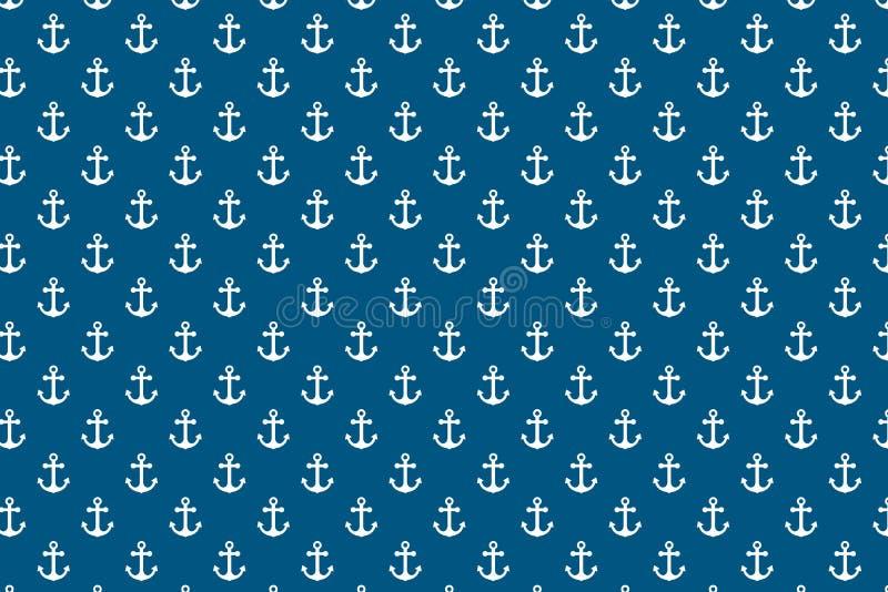 Modello delle ancore galleggianti su fondo blu illustrazione di stock
