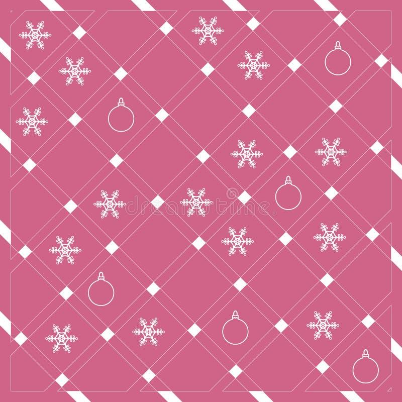 Modello delle bande o delle linee diagonali nei colori piacevoli con lo snowfla royalty illustrazione gratis