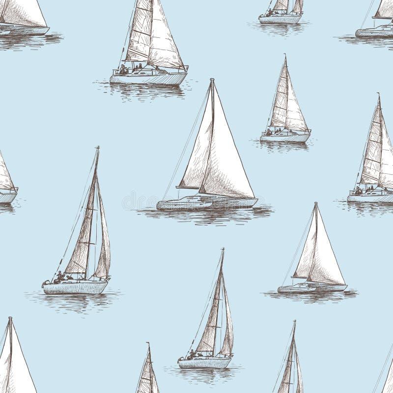 Modello delle barche a vela royalty illustrazione gratis