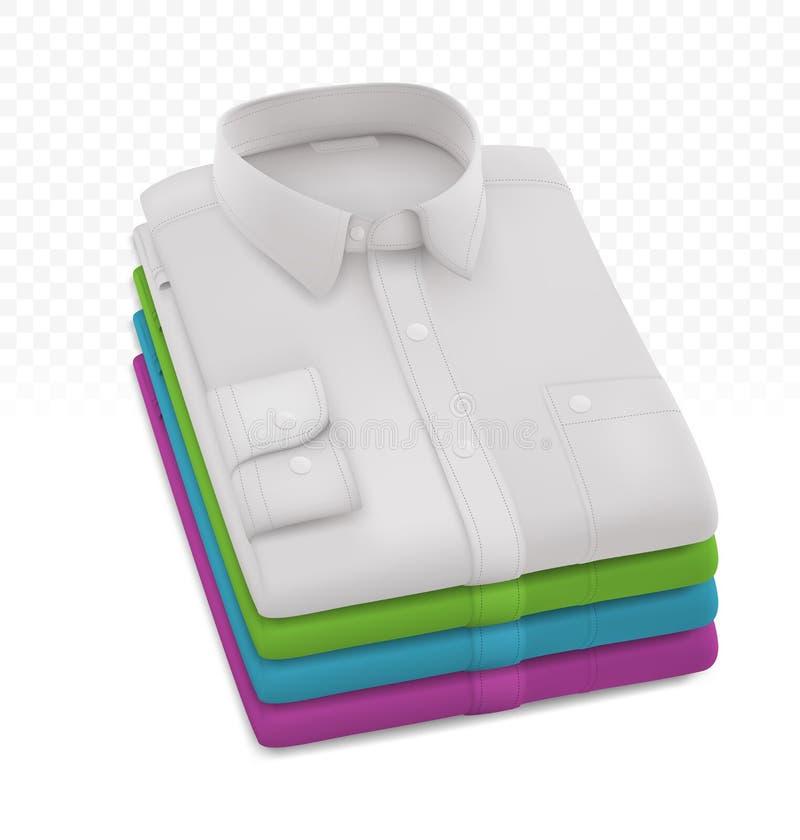 Modello delle camice piegato spazio in bianco maschio fotografia stock