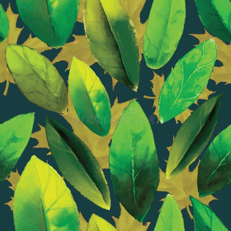 Modello delle foglie illustrazione di stock