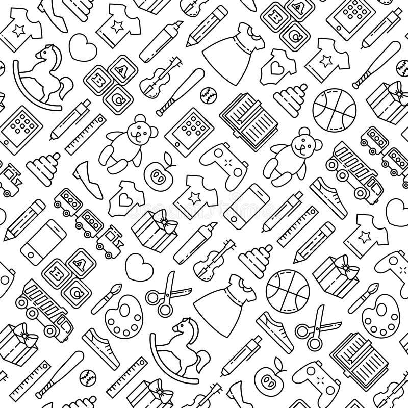 Modello delle icone dei giocattoli royalty illustrazione gratis