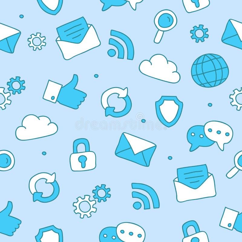 Modello delle icone di Internet illustrazione vettoriale
