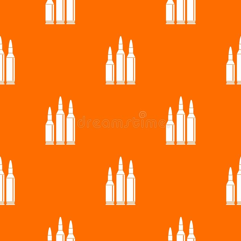 Modello delle munizioni della pallottola senza cuciture illustrazione di stock