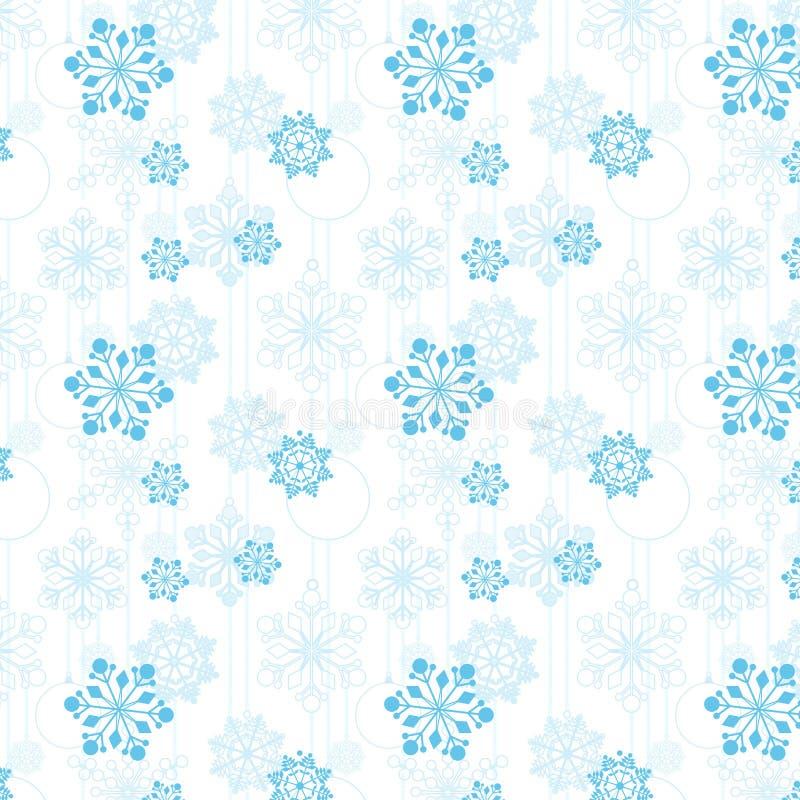 Modello delle palle dell'albero di Natale e dei fiocchi di neve illustrazione di stock
