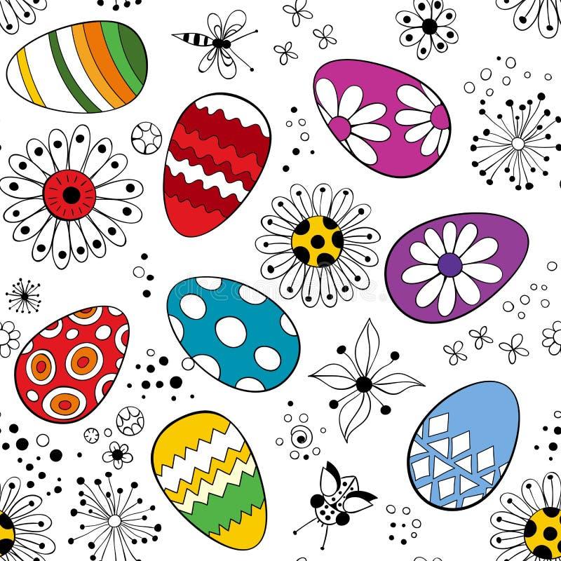 Modello delle uova di Pasqua royalty illustrazione gratis
