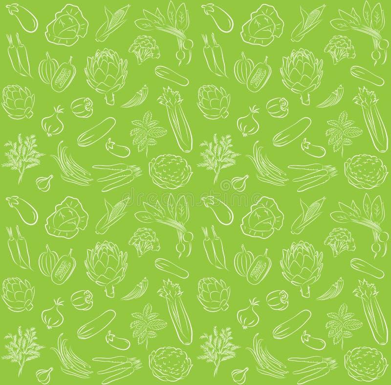 Modello delle verdure illustrazione di stock