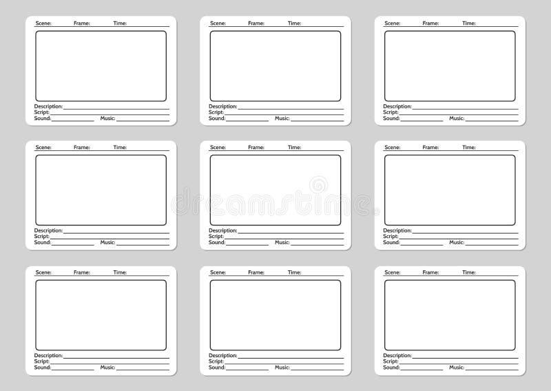 Modello dello Storyboard per il film illustrazione di stock