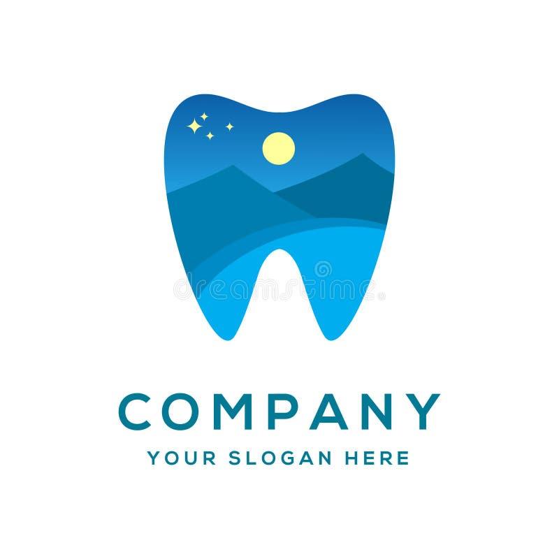 Modello dentario all'aperto di logo fotografie stock libere da diritti