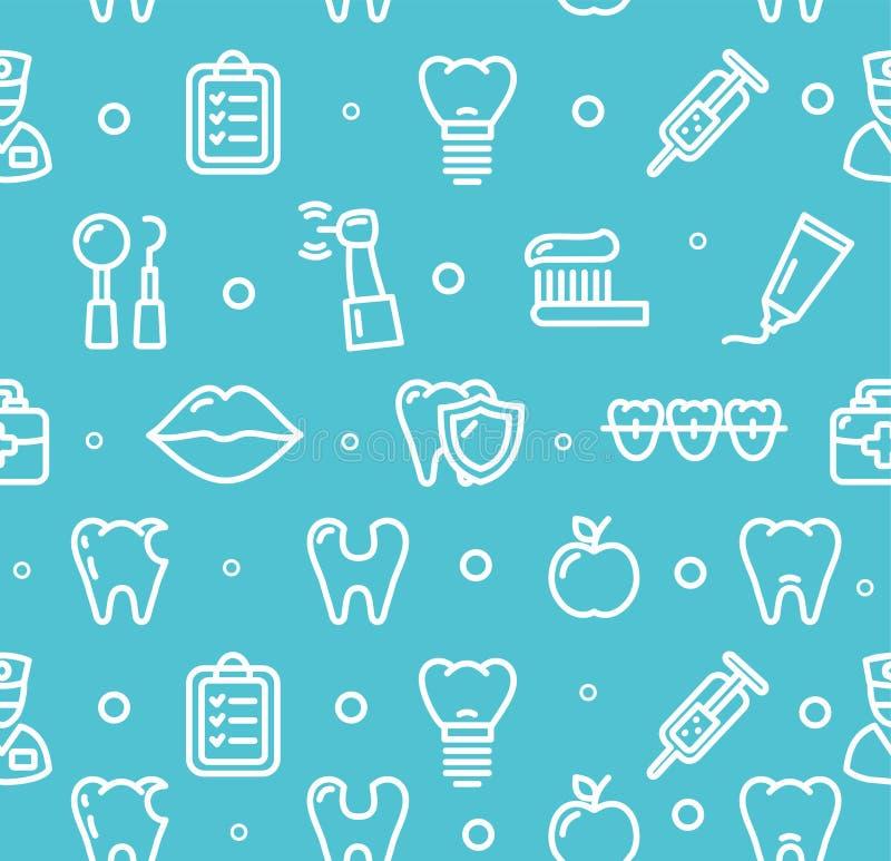 Modello dentario del fondo della clinica del dente Vettore illustrazione vettoriale