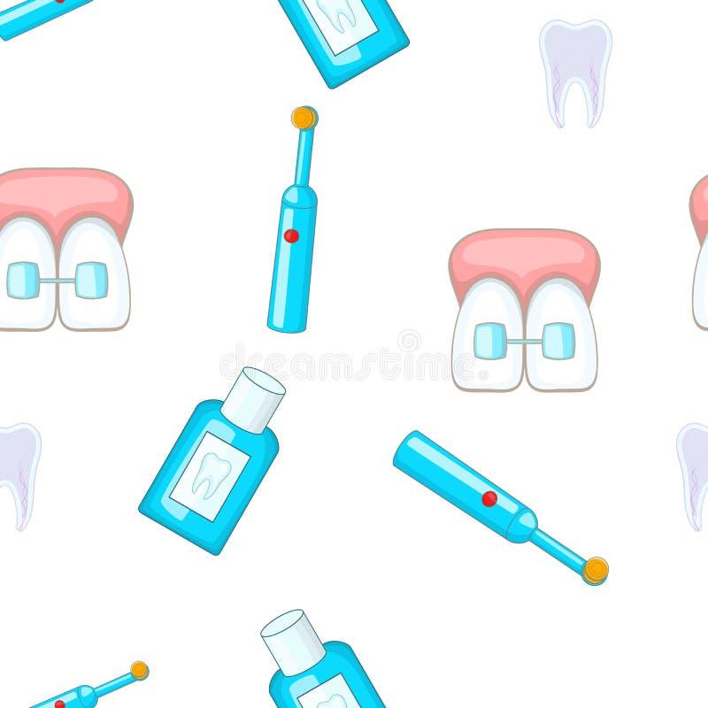 Modello dentario di trattamento, stile del fumetto illustrazione di stock