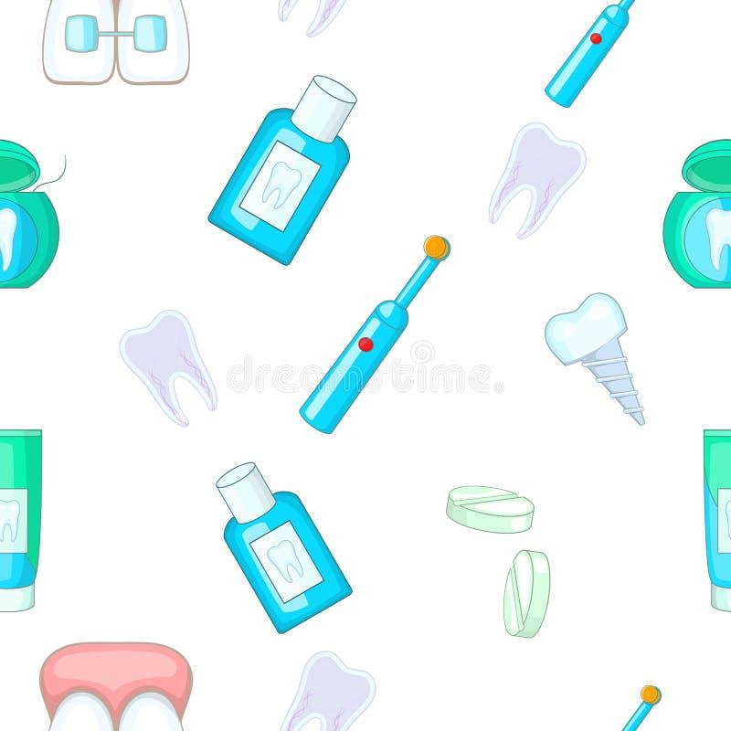 Modello dentario di trattamento, stile del fumetto illustrazione vettoriale