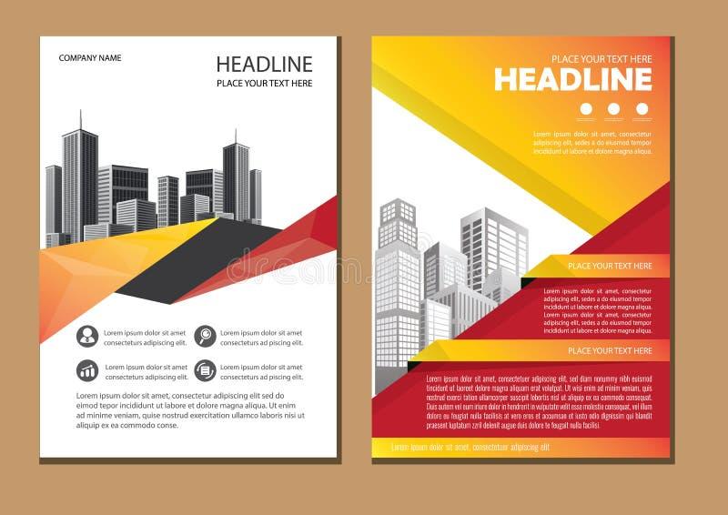 Modello di affari dell'opuscolo della copertura di progettazione fotografia stock