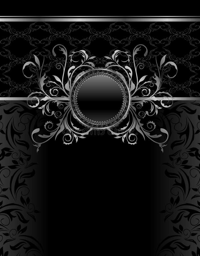 Modello di alluminio del blocco per grafici dell'annata di lusso illustrazione di stock