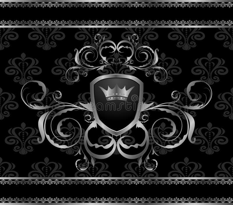 Modello di alluminio del blocco per grafici dell'annata di lusso royalty illustrazione gratis