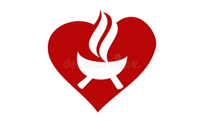 Modello di amore della griglia illustrazione di stock