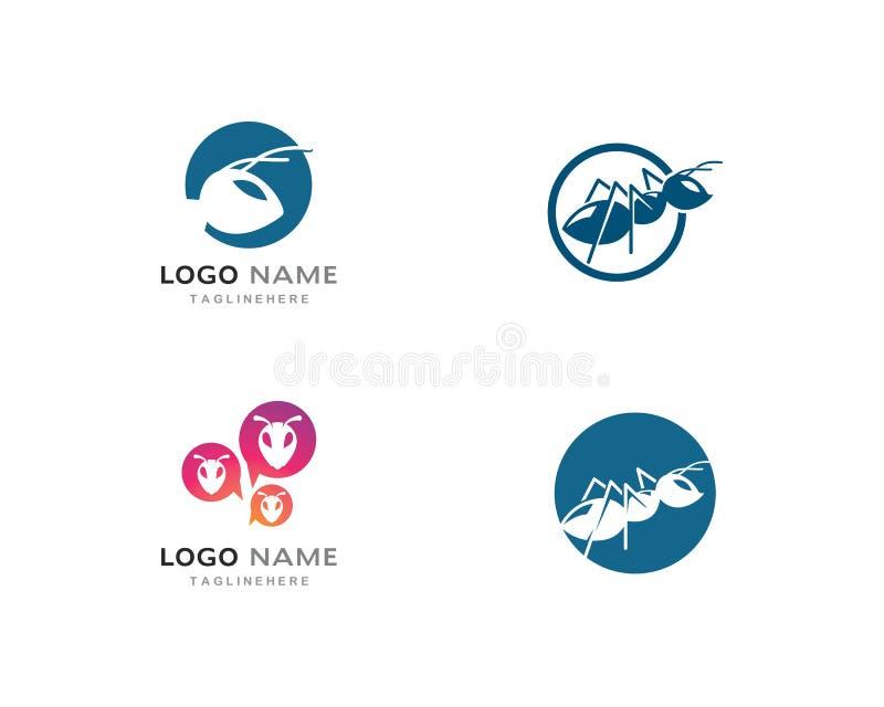 Modello di Ant Logo royalty illustrazione gratis
