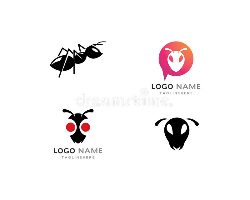Modello di Ant Logo illustrazione di stock