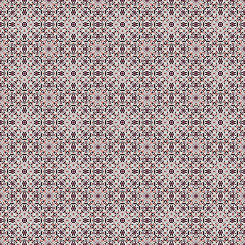 Modello di arabesque Stampa del tessuto Modello geometrico nella ripetizione Fondo senza cuciture, ornamento del mosaico, stile e illustrazione di stock
