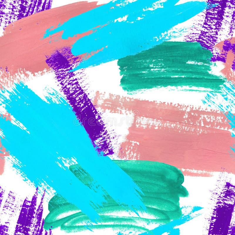 Modello di astrazione dell'acquerello Collage delle macchie illustrazione di stock