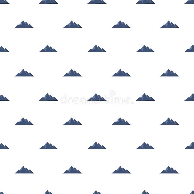 Modello di avventura della montagna senza cuciture illustrazione vettoriale