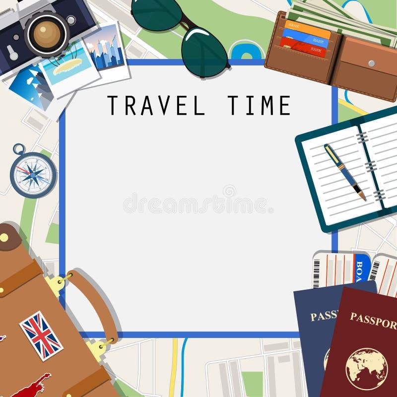 Modello di avventura e di viaggio illustrazione vettoriale
