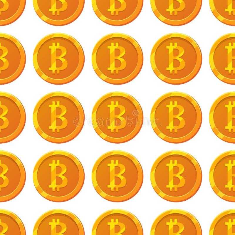 Modello di Bitcoin illustrazione vettoriale