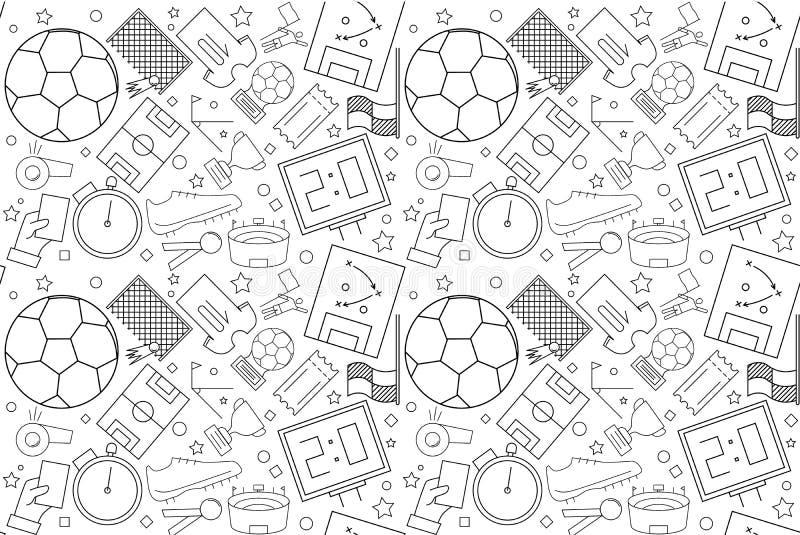 Modello di calcio di vettore Priorità bassa senza giunte di gioco del calcio royalty illustrazione gratis