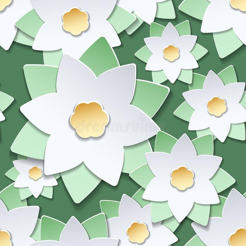 Modello di carta di stile giapponese dei fiori recisi illustrazione di stock