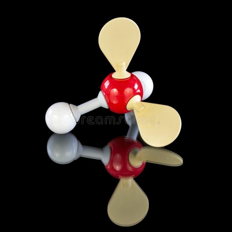 Modello di chimica di uno ione di idrossonio fotografia stock libera da diritti