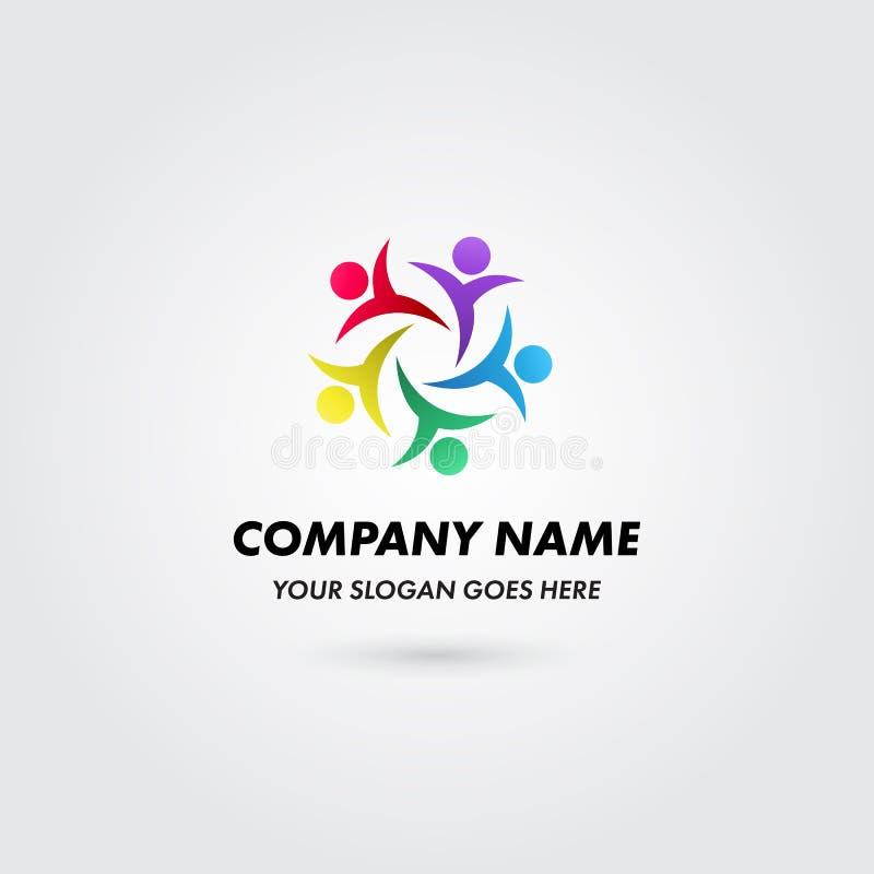Modello di concetto di logo di colore del gruppo del gruppo di società royalty illustrazione gratis